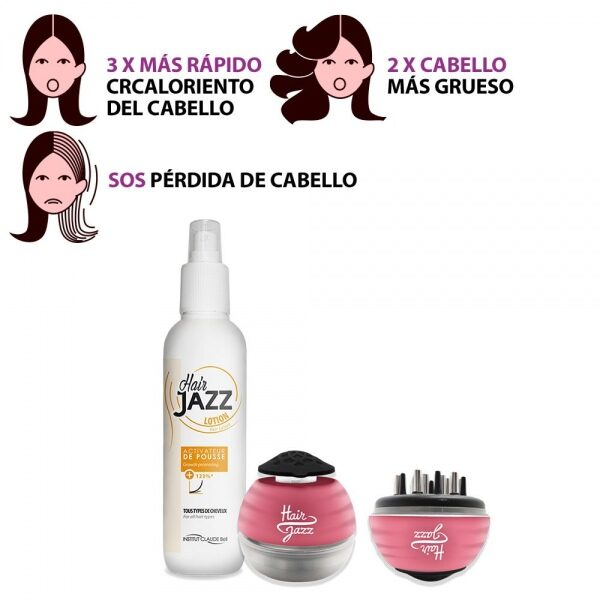 Masajeador de cuero cabelludo HAIR JAZZ + Loción para acelerar el crecimiento del cabello
