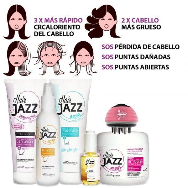 Hair Jazz Set- Completo Rutina De Lavado + Serum + Masajeador De Cuero Cabelludo