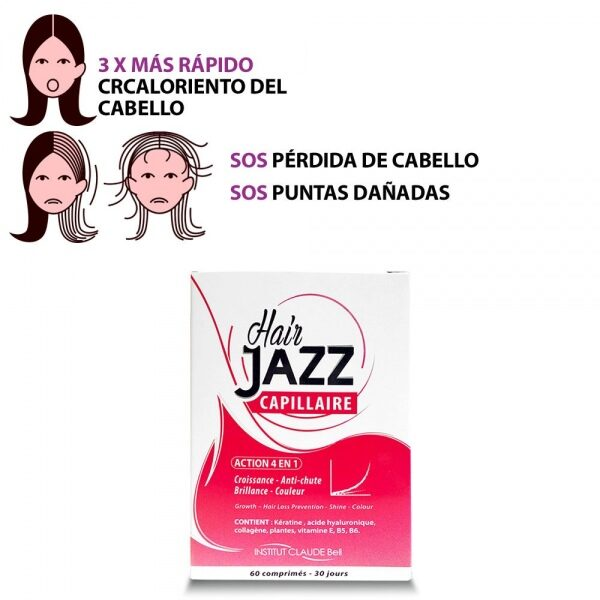 HAIR JAZZ  Vitaminas - ¡Alimenta El Crecimiento De Tu Pelo!
