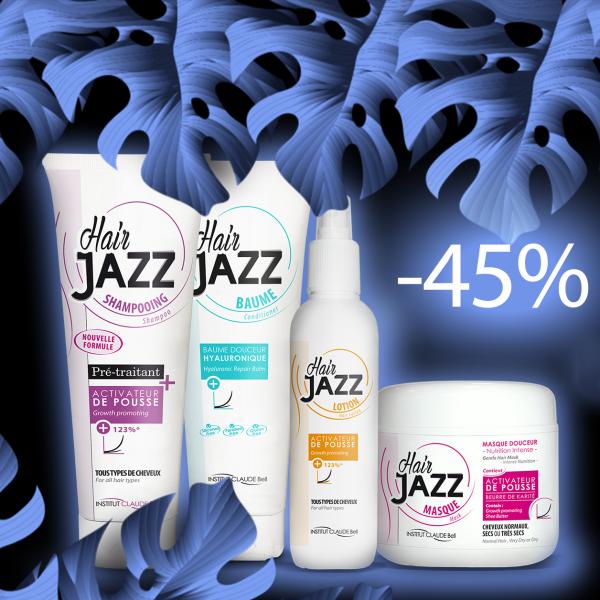 Hair Jazz Champú, Loción, Máscara Y Acondicionador Hialurónico - ¡Acelera, Hidrata Y Da Brillo A Tu Cabello!