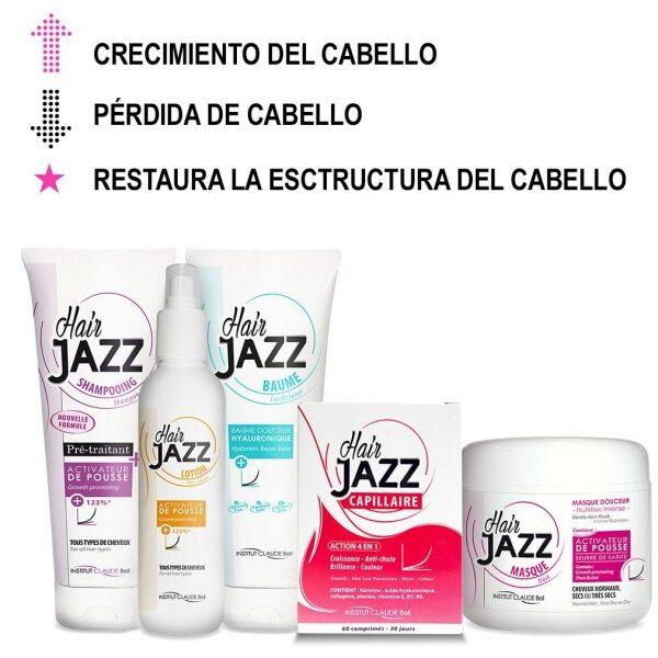 HAIR JAZZ Set- Completo Rutina De Lavado + Vitaminas
